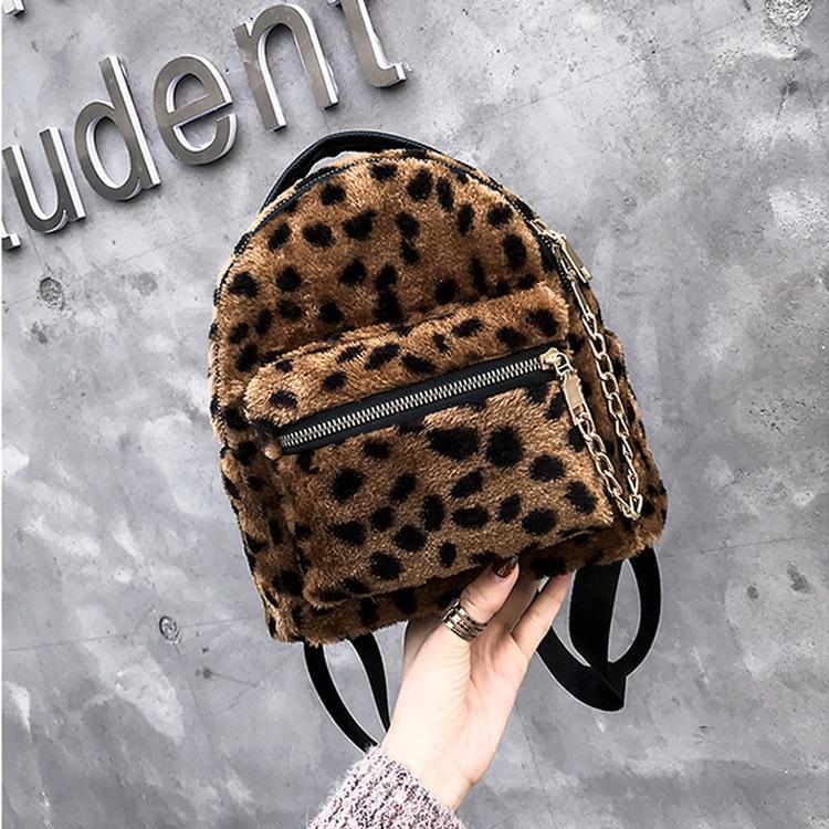 Moda Kadın Sırt Çantaları Lüks Leopar Tasarım Küçük Okul Çantaları Genç Kızlar için Yüksek Kalite Yeni Omuz Çantaları