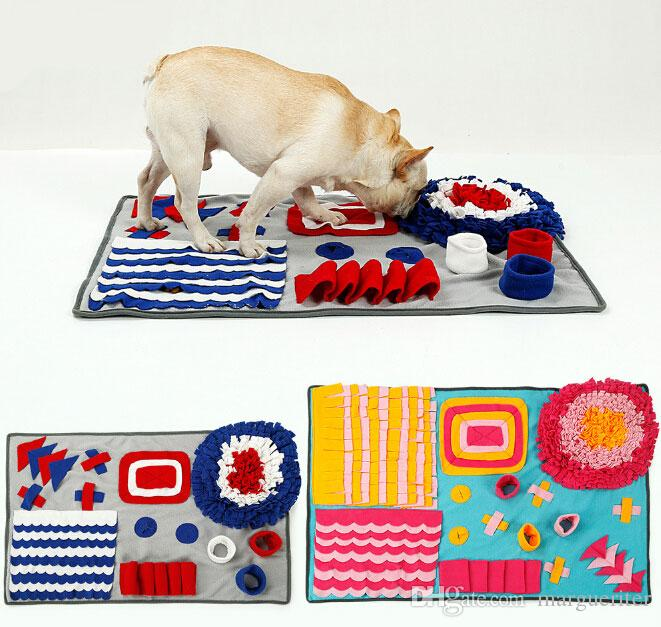 Snuffle mat for dogs multicolor feeding mat for cats foraging colorful interactive mat for pets
