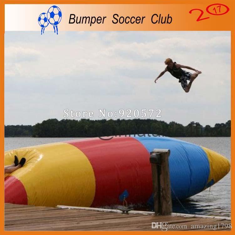 شحن مجاني من الباب إلى الباب التسليم مضخة مجانية 5x3m نفخ القفز المياه حقيبة نفخ القفز فقاعة الماء مع مضخة واحدة مجانا
