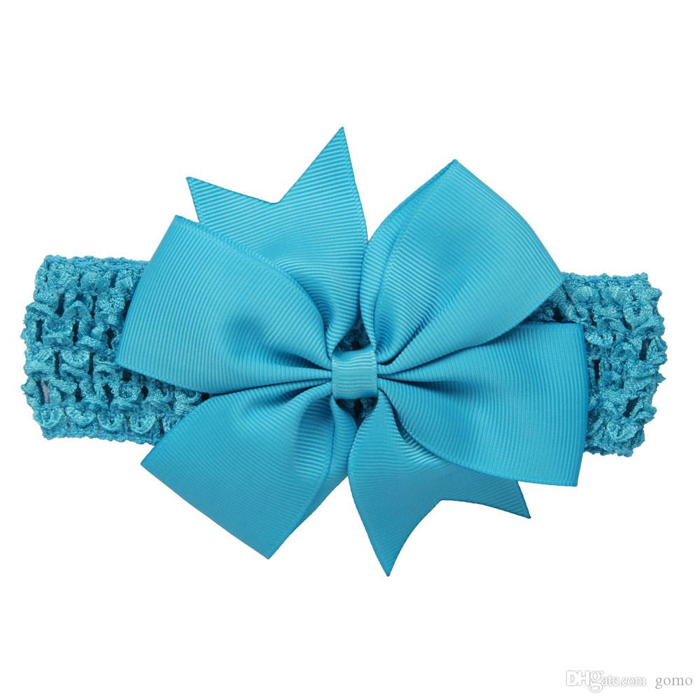 Wave baby girl headbands Bowknot Hair Accessories For Girls Infant Hair Band flower headband newborn photography props