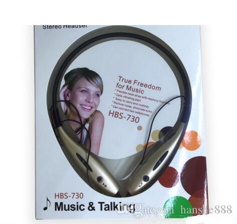 HBS 730 Casque d'écoute Bluetooth stéréo avec réduction du bruit sans fil avec vibration d'appelant offrant la meilleure qualité avec le paquet de vente au détail HBS730