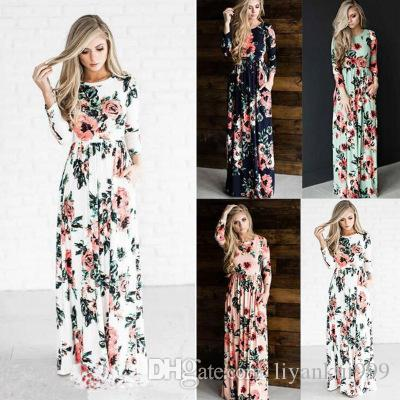 Women Summer Casual Boho Long Maxi Evening Party Dress Beach Dresses Size S-3XL