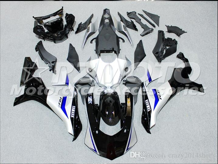 3 Free Gifts New motorcycle Fairings Kits For YAMAHA YZF-R1 2015-2016 R1 15-16 YZF1000 bodywork hot sales loves Black White B89