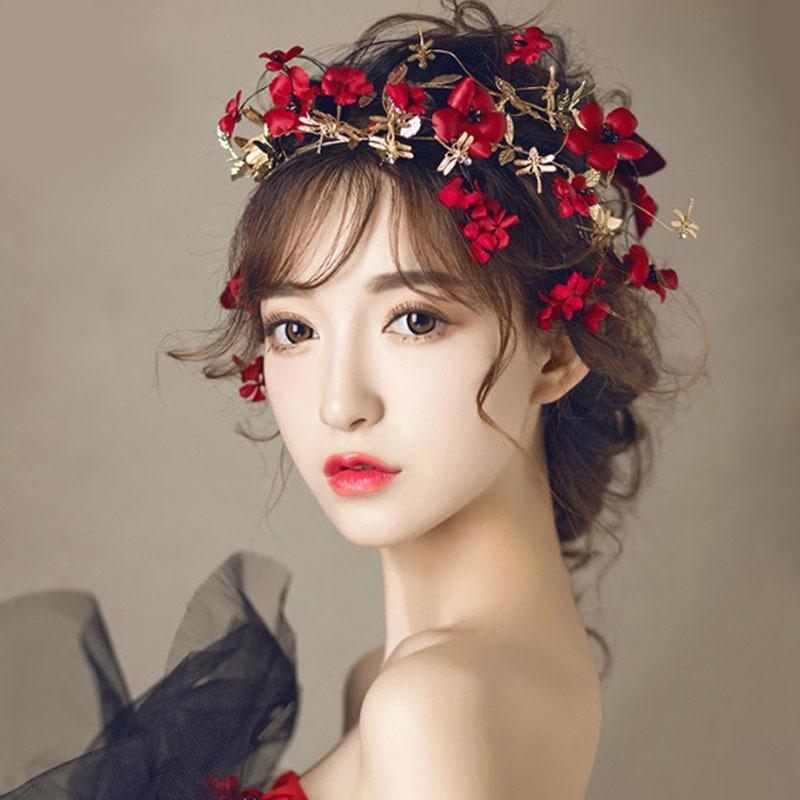 Moda Feminina Flor Coroa Headband Do Casamento Nupcial Hairband Acessórios Para o Cabelo M8694 S926