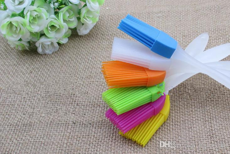 Free Shipping Food Grade Silicone Oil Brush Heat Resistant BBQ Brushes Outdoor Picnic Cooking Tools Random Colors order
