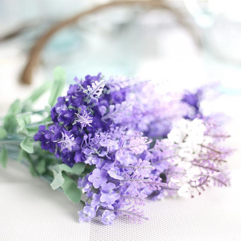 1 Bouquet 10 heads lavender oil Flower Romantic Provence Artificial Flowers lavendeer perfume for Wedding Party Garden Decoration