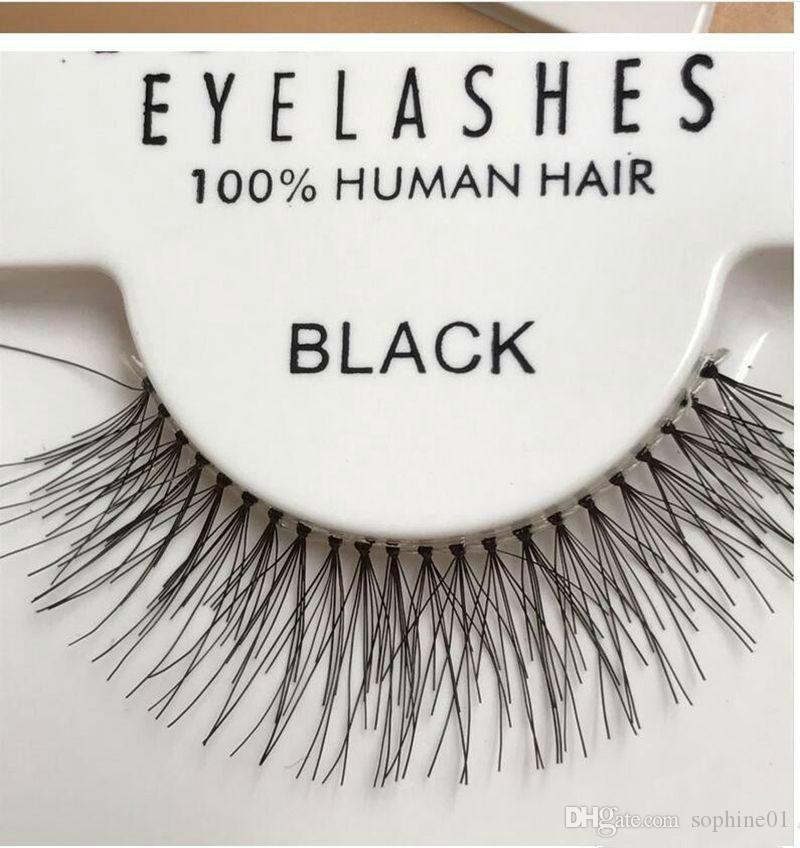 Sıcak Satış 50 Çiftler KIRMIZI KİRAZ Yanlış Eyelashes% 100 El yapımı Saç Şerit Lash Sahte Göz Lashes S M L