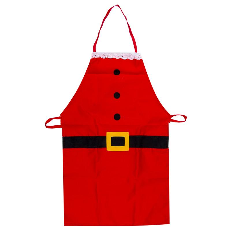 2019 Kids Christmas Apron Decor Cute Children Decorative Apron For Kitchen Home Kitchen Cooking Baking Chef Red For Kids