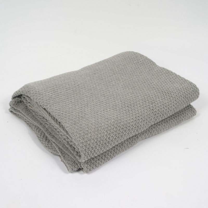 Algodão Cinza de Malha Cobertor de Lã para a Cama Do Bebê Envoltório Do Dormir Fio Cobertor Xadrez Manta Koc Mantas Comforter