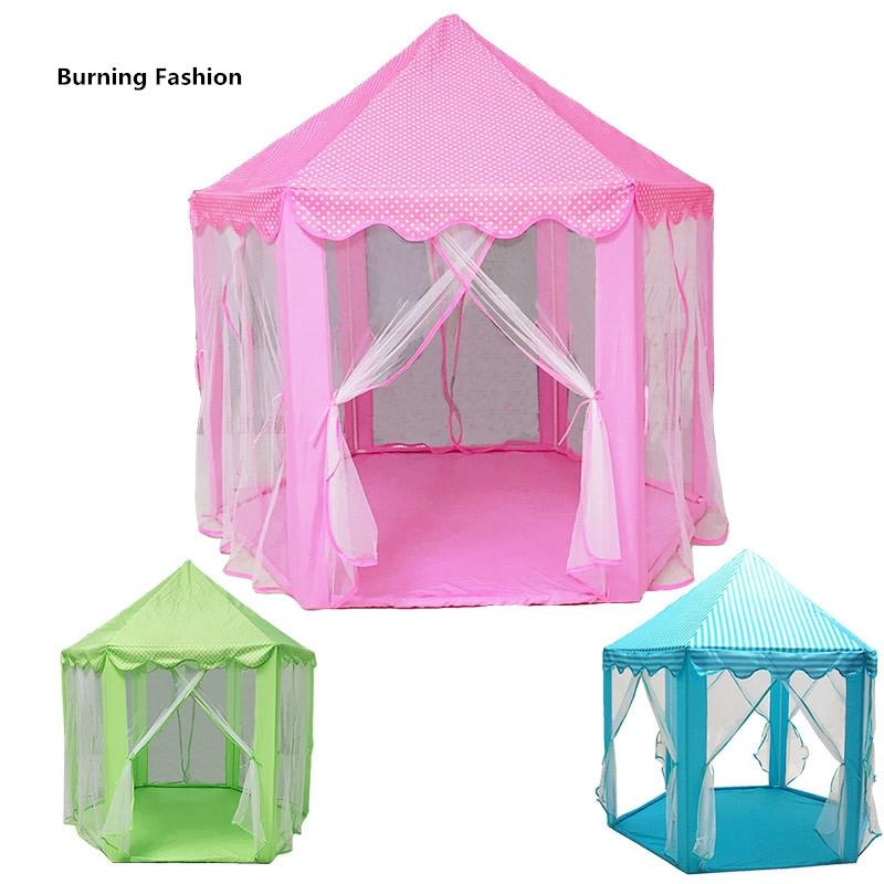 South Korea's Princess Hexagon Castle Super Tulle Children's tent Doll House Super game room Mosquito