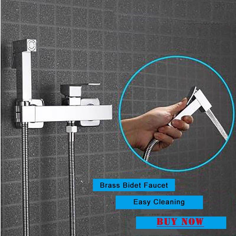 새로운 도착 화장실 샤워 비데 수도꼭지 황동 크롬 따뜻한 것과 차가운 Armatur 벽 마운트 스프레이 Shattaf 청소 샤워