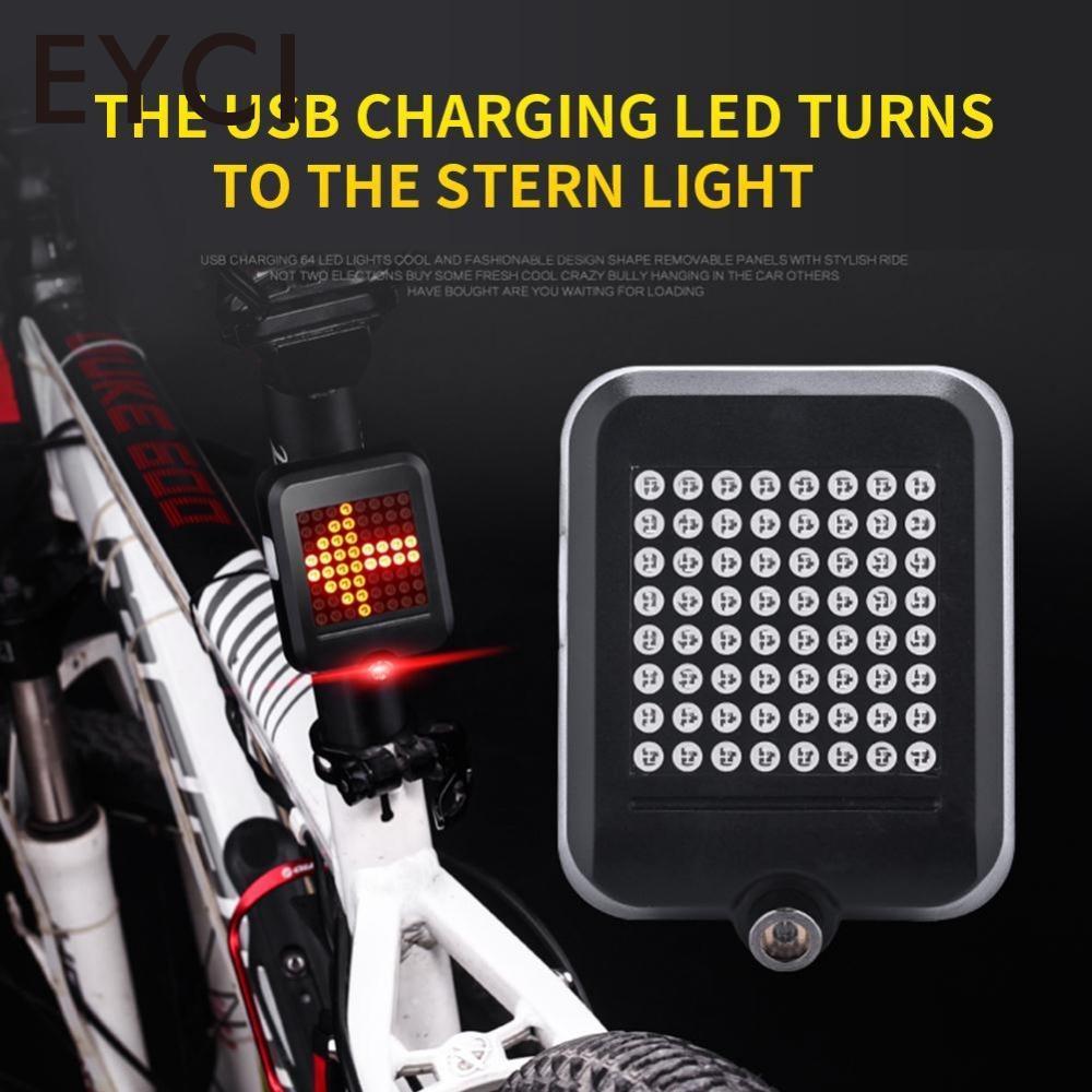 EYCI 64LED Fahrrad Licht Fahrrad Rücklicht Intelligente Automatische Induktion Sicherheit USB Lade Blinker