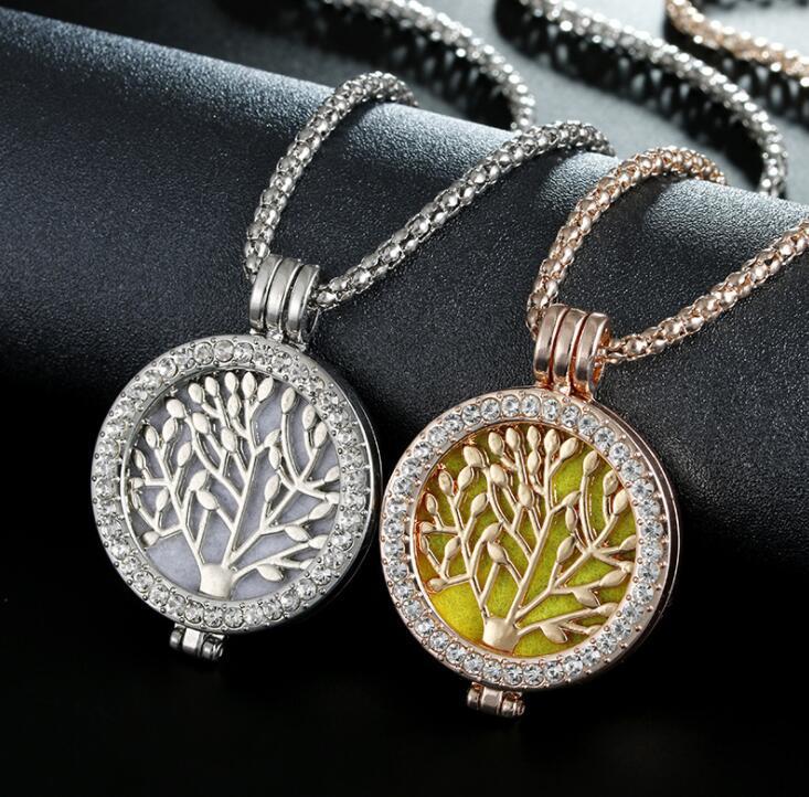 La collana di fragranza della scatola di foto dell'albero della vita di nuovo albero europeo e americano di modo di commercio estero La mia serie della moneta può aprire la collana del maglione