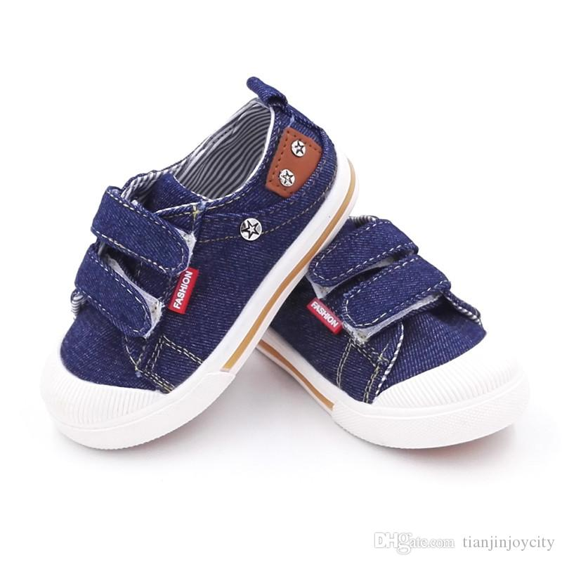 NEW Toddler Boys Tennis Shoes Size 8 Black Canvas Sneakers Hook and Loop