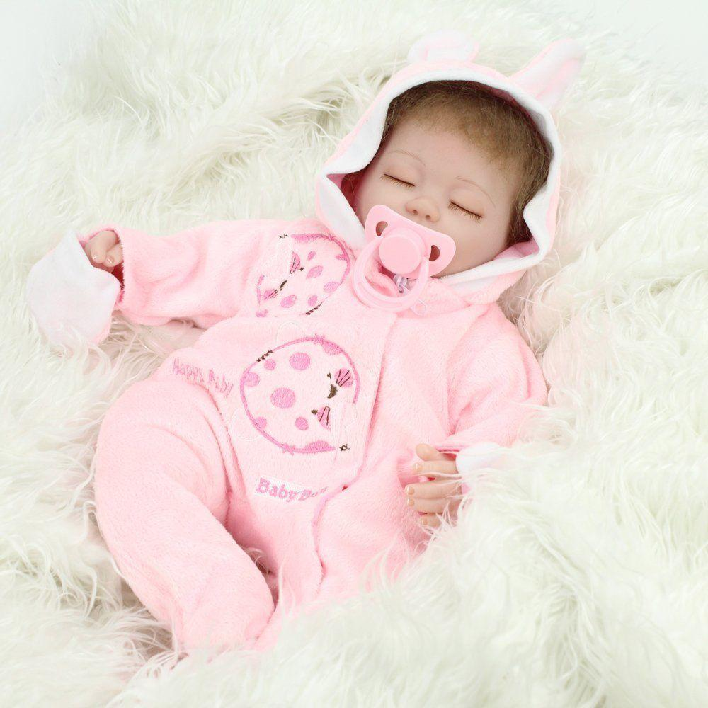 Reborn Baby Dolls Realistic Reborn Dolls Doll Siz 16 Inch Baby Lifelike Sleeping Soft Vinyl Fake Babies Newborn Toy Toy Doll Miniature Dolls From Angelakids 48 25 Dhgate Com