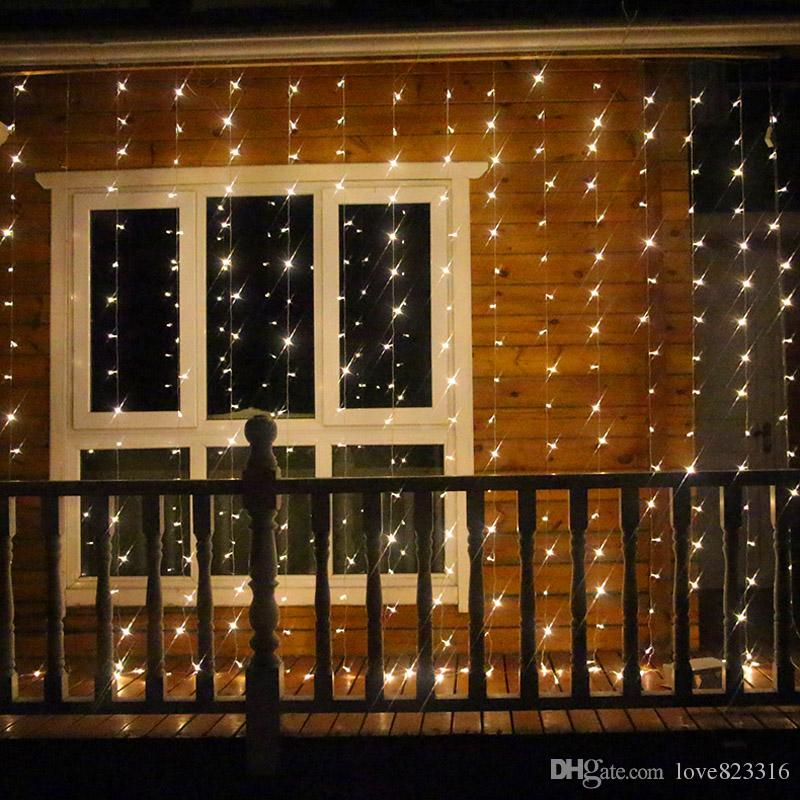 Indoor Christmas Lights.8 4m 1024 Led Christmas Lights Outdoor Indoor Fairy Curtain String Lamp With Pendant Wedding Christmas Decorations For Home Party Round String Lights