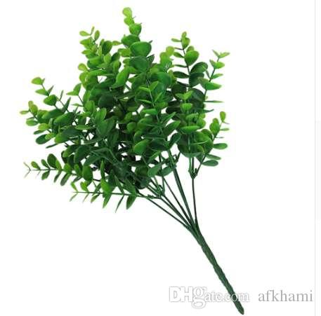 Christmas Tree Ornaments Artificial Plants Plastic Green Plants Artificial Leaf Stems For Home Office Party Decoration
