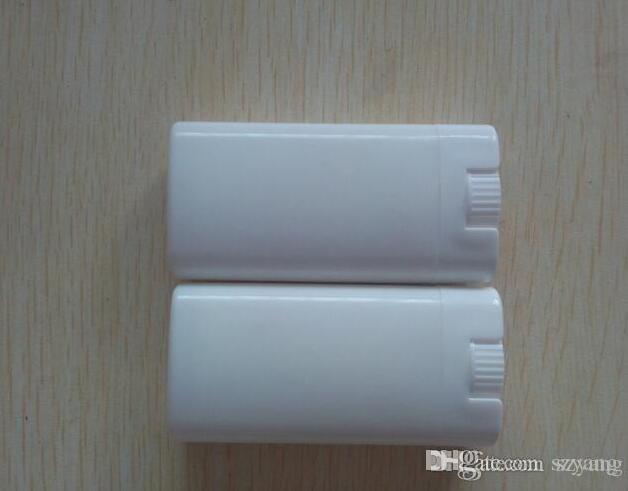 500 sztuk / partia 15g DIY Puste owalne belki do ust dezodorant pojemniki Wyczyść białą szminkę mody fajne lamki