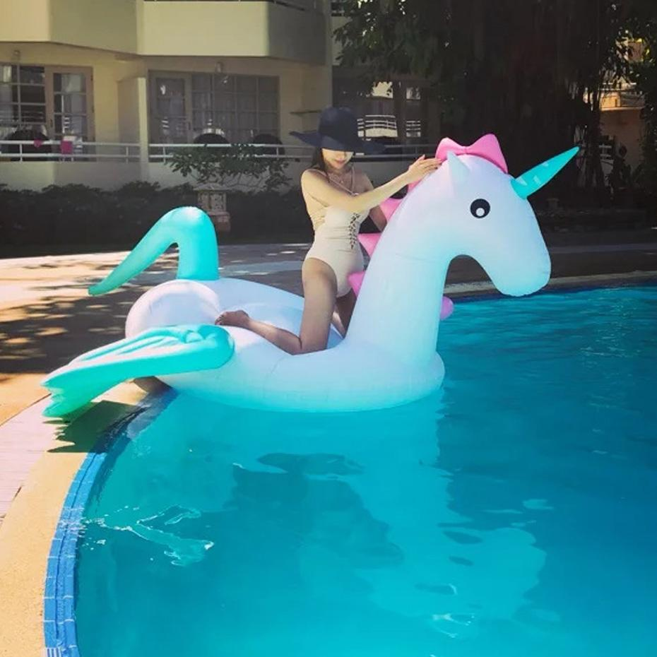 2019 Swimming Pool Giant Pool Floats Inflatable Swimming Ring Pegasus  Floating Adult Tube Raft Kid Toys Summer Water Mattress From Onecherry,  $111.39 ...