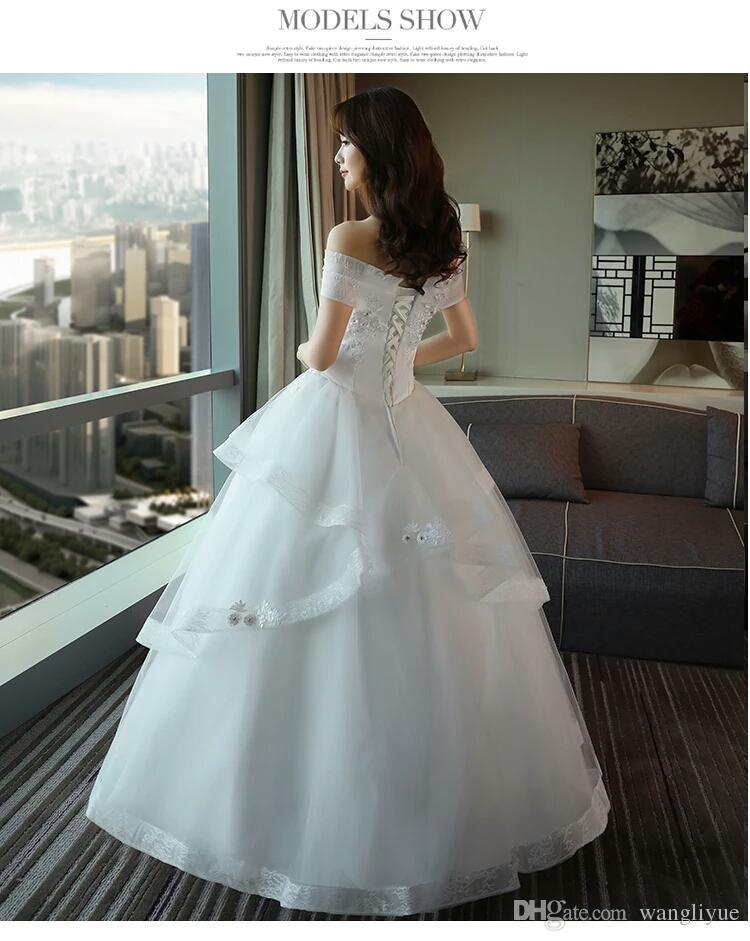 2017 New Winter Princess Dream Wedding Dress Slim Bride Married ...