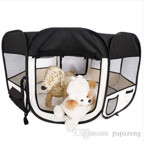 45inch Portable Foldable 600D Oxford Cloth & Mesh Pet Playpen Fence with Eight Panels 46cm 59cm Pet supplies dog supplies dog fence