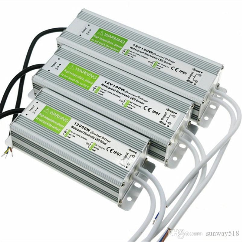 IP67 Водонепроницаемый Светодиодный Драйвер 12 В 60 Вт 100 Вт 120 Вт 250 Вт Наружного Использования Трансформатор 110 В-240 В Для 12 В Питания Для Подводного Света