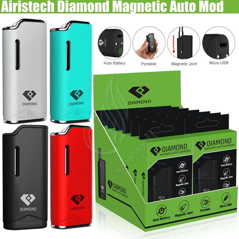 Аутентичные Airistech Diamond V11 Vaporizer Mod 280 мАч Авто Аккумулятор Airis Vape Pen Mod Kit с воздушным приводом CE3 O ручка G2 Картриджи Бак распылителей