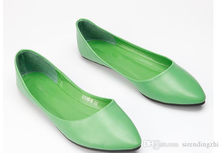Gratis enviar 2018 otoño nuevo estilo mujeres boca baja zapatos de fondo plano