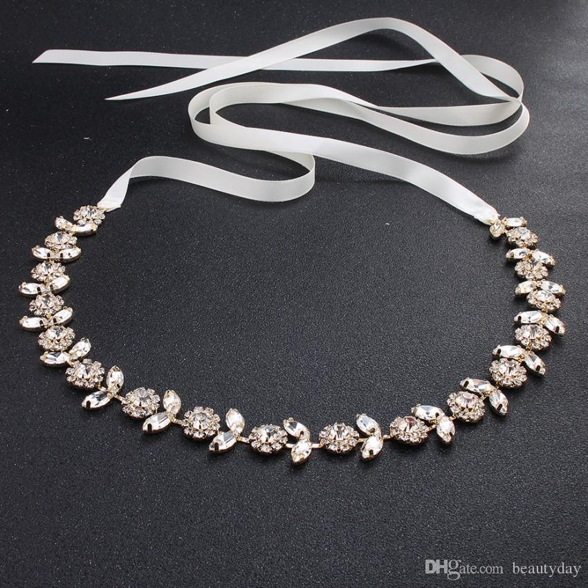 luxury Wedding Sashes Bridal Belt 2019 fashion Rhinestone adornment For Wedding Prom Party Evening Dress accessories Belt 100% hand-made