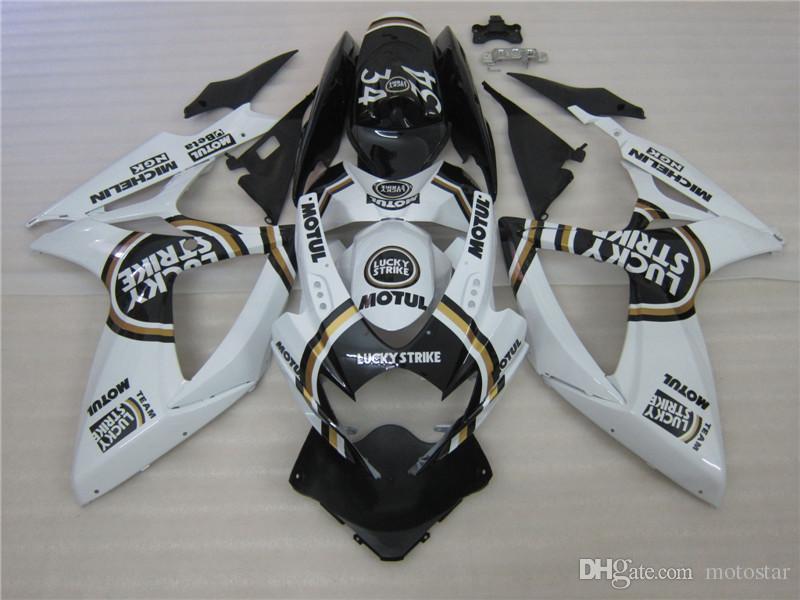 100% formowanie wtryskowe Czarny White Alstare Corona Wording Kit dla Suzuki 2006 2007 GSXR 600 750 K6 GSXR600 GSXR750 06 07 Korpiarki VF00