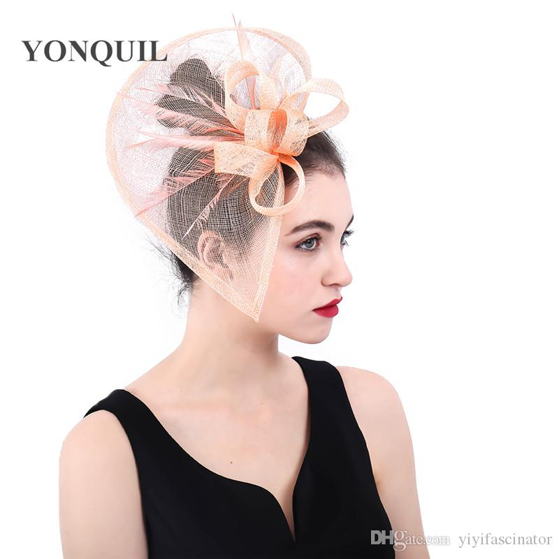 Ladies Women/'s Hair Accessories Feather /& Flower Fascinator For Party Wedding