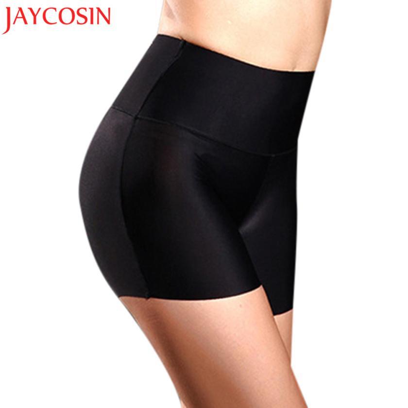 JAYCOSIN 2017 Femmes Sous-vêtements taille haute du corps Tummy Contrôle Boyshort amincissants sécurité anti-bactérienne Pantalon court Sep1830