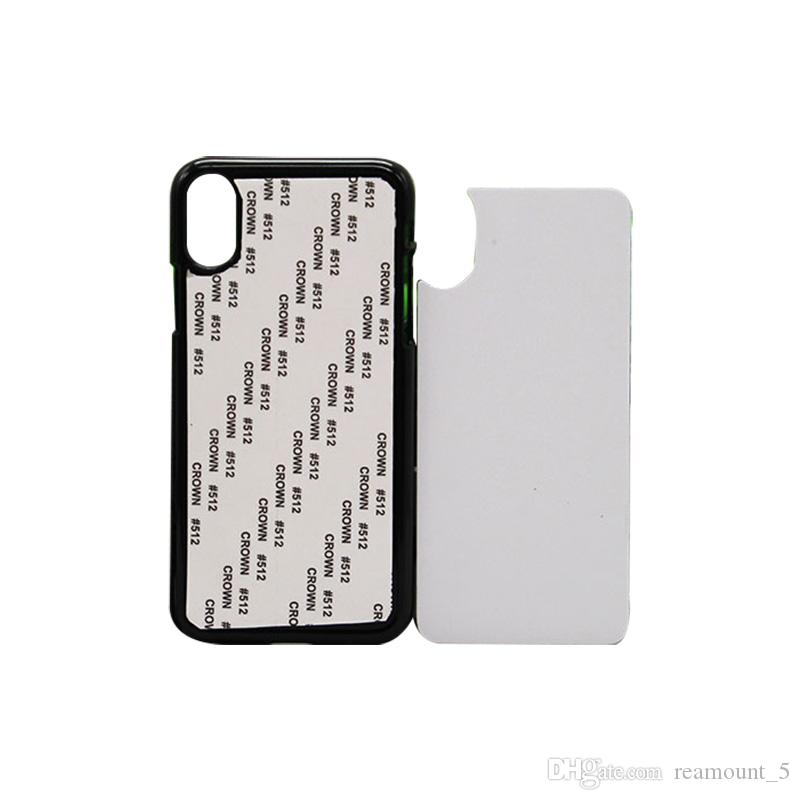 60 pcs Wholesale DIY Your Own Design For iPhone XS XR XA MAX 2D Sublimation Phone Shell Blank Hard Plastic Phone Case