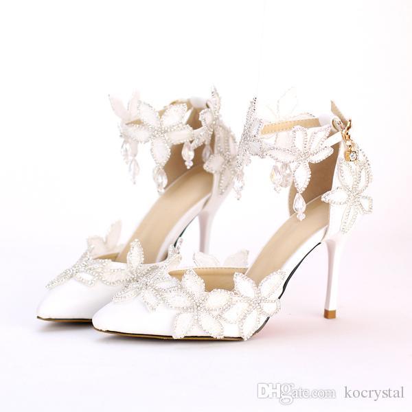 Elegant Sunflower White Dress Shoes