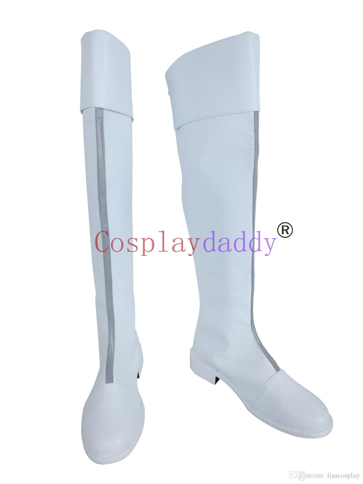 Anime My Boku no Hero Academia Todoroki Shouto White Cosplay Shoes Boots