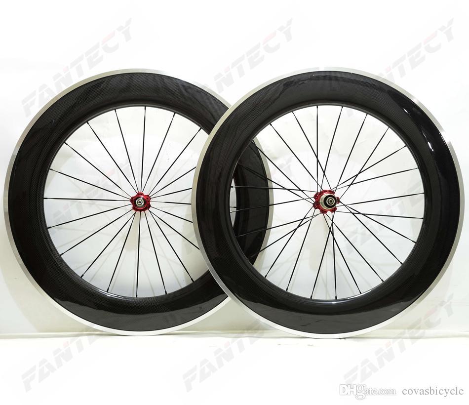 700C سبيكة الفرامل سطح الطريق عجلات الكربون 88 ملليمتر عمق عمق 23 ملليمتر الفاصلة دراجة الكربون العجلات 3K لامعة النهاية