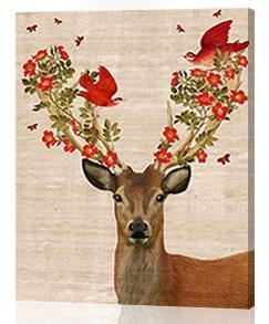 CHENISTORY Noel Mr Geyik Sayılar Tarafından DIY Boyama Handpainted Hayvanlar Sayılar Kitleri Boya Ev Duvar Sanatı Resim Noel