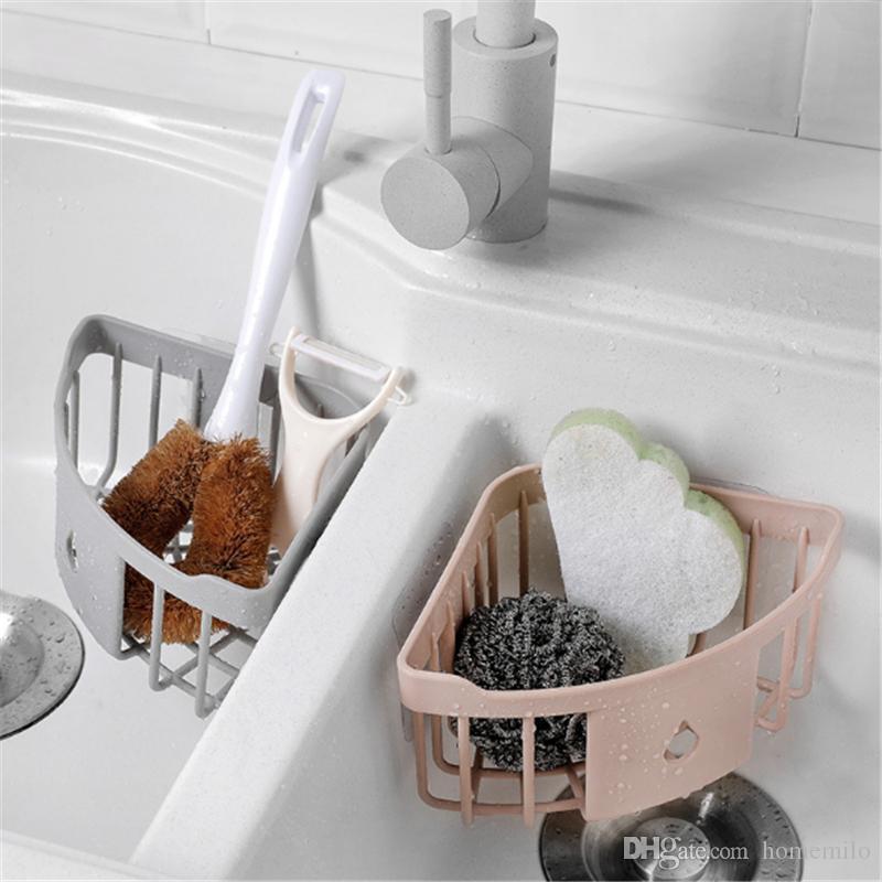 2019 Bathroom Kitchen Corner Storage Rack Organizer Shower Wall Shelf Sucker Cup Organizer Cup Storage Shower Wall Basket From Homemilo 2 89