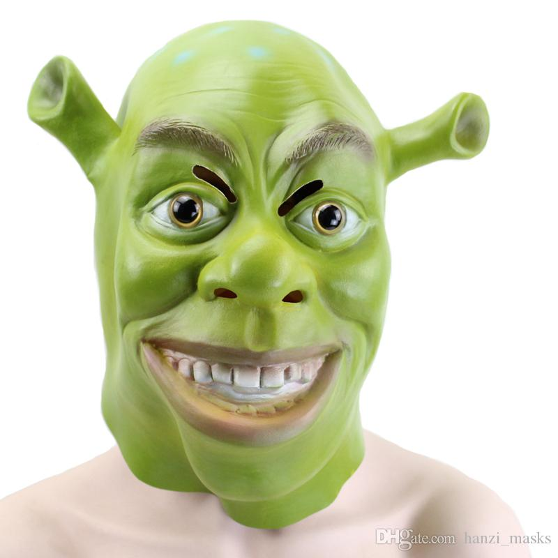 Hanzi_masks Green Shrek Latex Masks Movie Cosplay Prop Adult Animal Party Mask for Halloween Party Costume Fancy Dress Ball