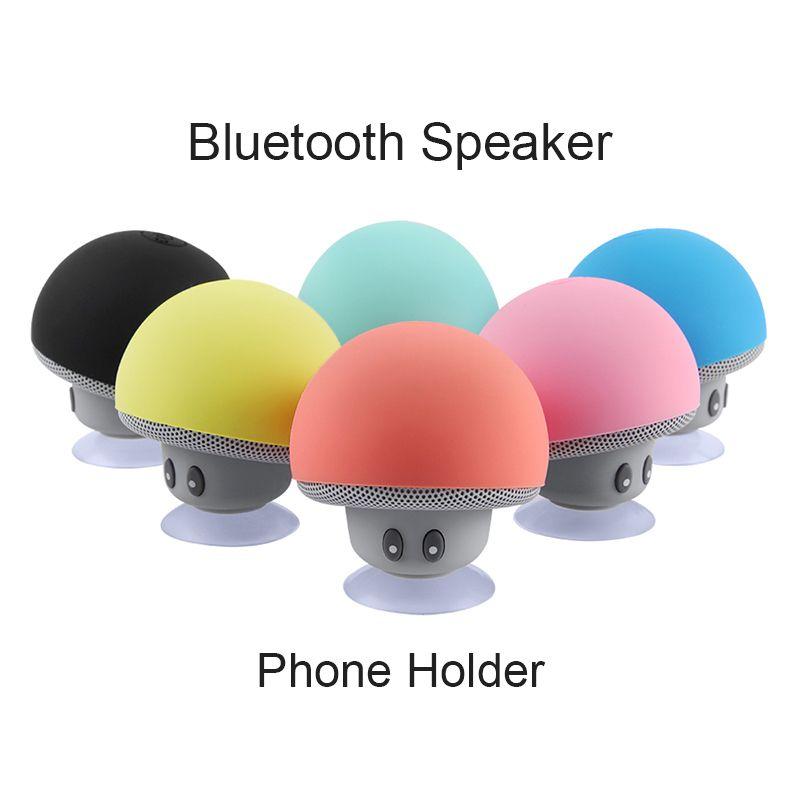 Wireless speakers Mini Waterproof Mushroom Bluetooth Speaker Music HiFi Stereo Subwoofer Hands Free For Phone Android IOS PC Retail link