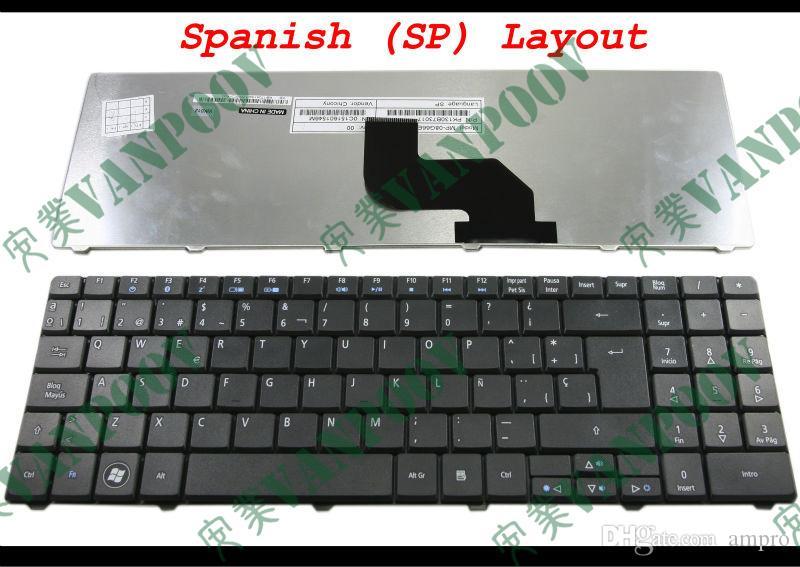 Ny bärbar dator tangentbord för Aspire 5332 5532 5534 5732 5732Z 5732ZG Svart Spanska (SP) - MP-08G66E0-6981