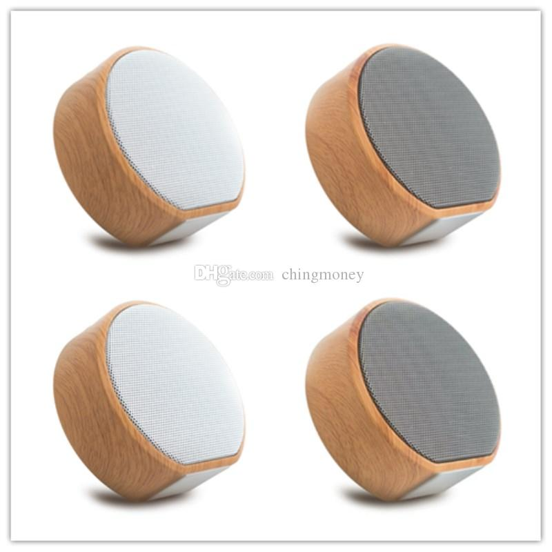 A60 Wood Bluetooth Speaker Portable Wireless Subwoofer MP3 Player FM Radio Audio TF Card USB Play Handsfree Calling Outdoor Wooden Speakers
