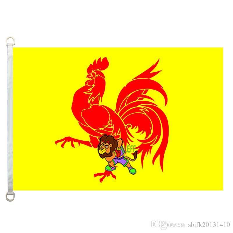 Drapeau de la Wallonie drapeau drapeau, 90 * 150cm, 100% polyester, bannière, Impression numérique
