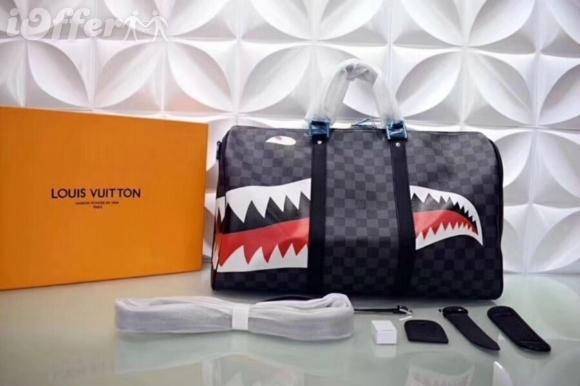 Satın Al M54169 Lattice Shark Seyahat Luggage Duffle Purse çanta