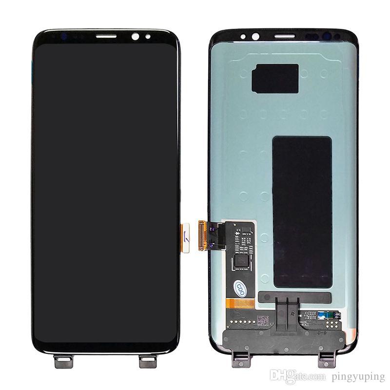 Display LCD per Samsung Galaxy S8 G950 con touch digitizer assembly nero Consegna DHL gratuita s8