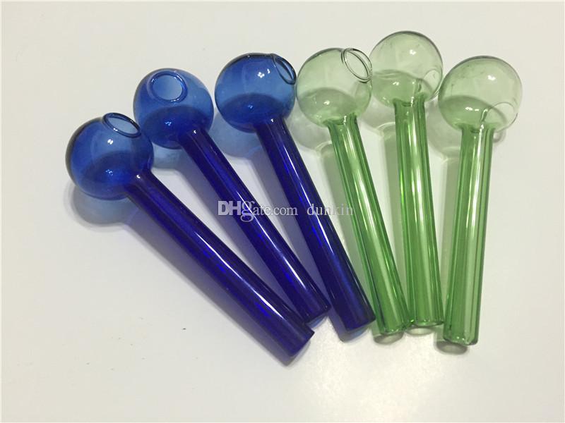 Оптовые дешевые стеклянные нефтяные трубы горелки цветные стеклянные водные трубы барбогреватель пирекс нефтегарный горелка стеклянная труба курить воды