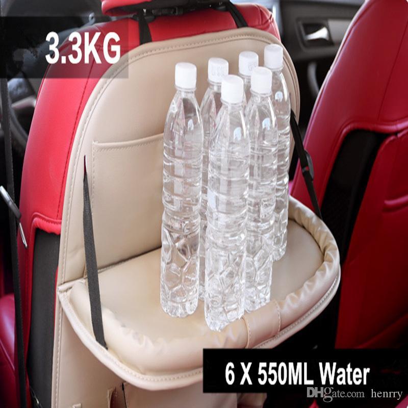 Bandeja de almacenamiento multifuncional de la bandeja del coche Bandeja posterior de almacenamiento de la parte posterior del asiento de carro de la ejecución del bolsillo con la mesa de comedor el ccsme