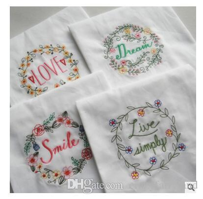 Embroidery Wedding Serviette Super-Absorbent Cotton Plain Tea Towel Glass Concise Upscale Home Cloth Table Napkin 45*70 Free Shipping