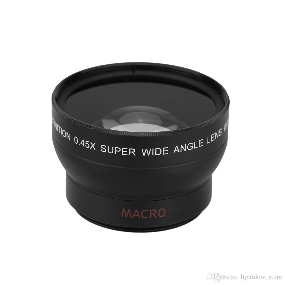 37MM 0.45x Wide Angle Lens with Macro Lens Attachment for Nikon D70 D80 D90 D800 D600 D7000 D550 D3300 D3200 Canon Cameras