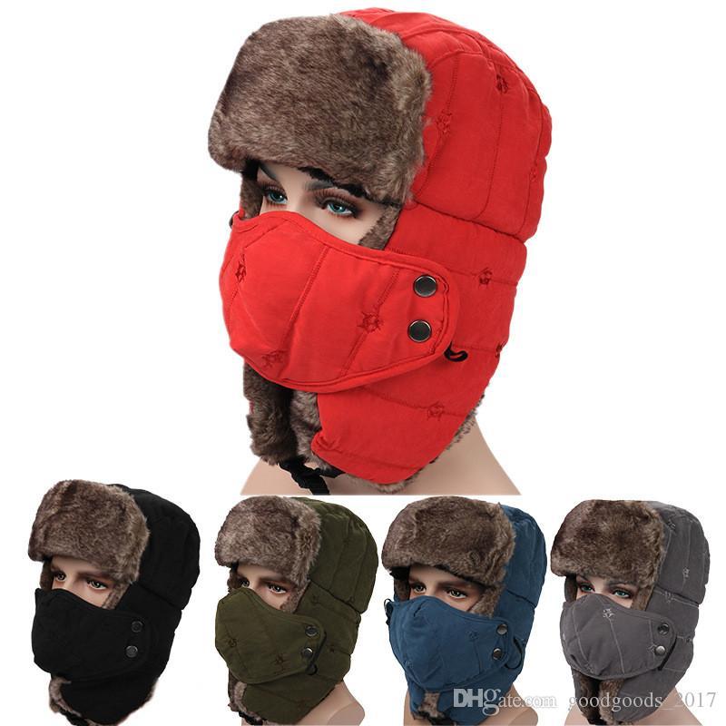 De haute qualité solide hiver trappeur chapeaux avec oreille rabats ushanka aviator russe chapeau hiver en plein air chaud chapeau ski sport coupe-vent cap mk853
